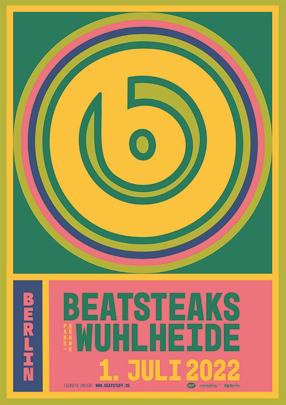 Beatsteaks 01.07.2022 Berlin, Parkbühne Wuhlheide Print@Home Ticket incl. presale, CO2-compensation + public transport