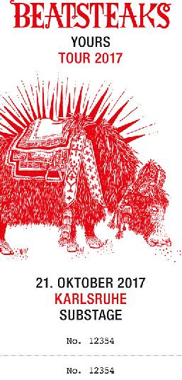 Ticket inkl. VVK 21.10. Karlsruhe