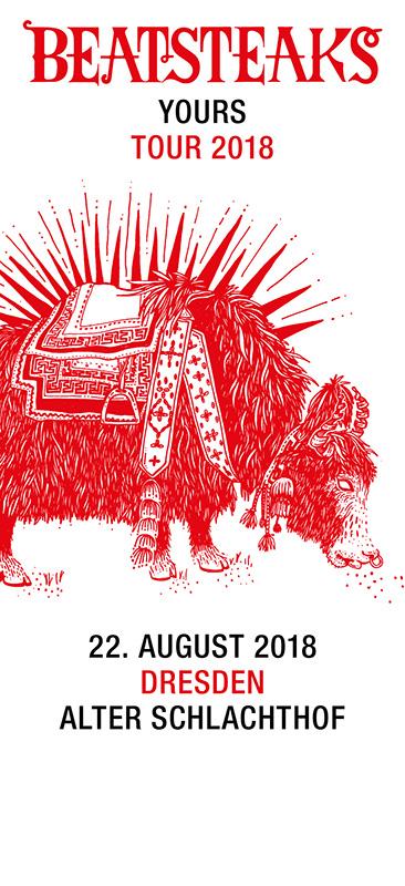 Beatsteaks 22.08.18 Dresden Stehplatz-Ticket inkl. VVK