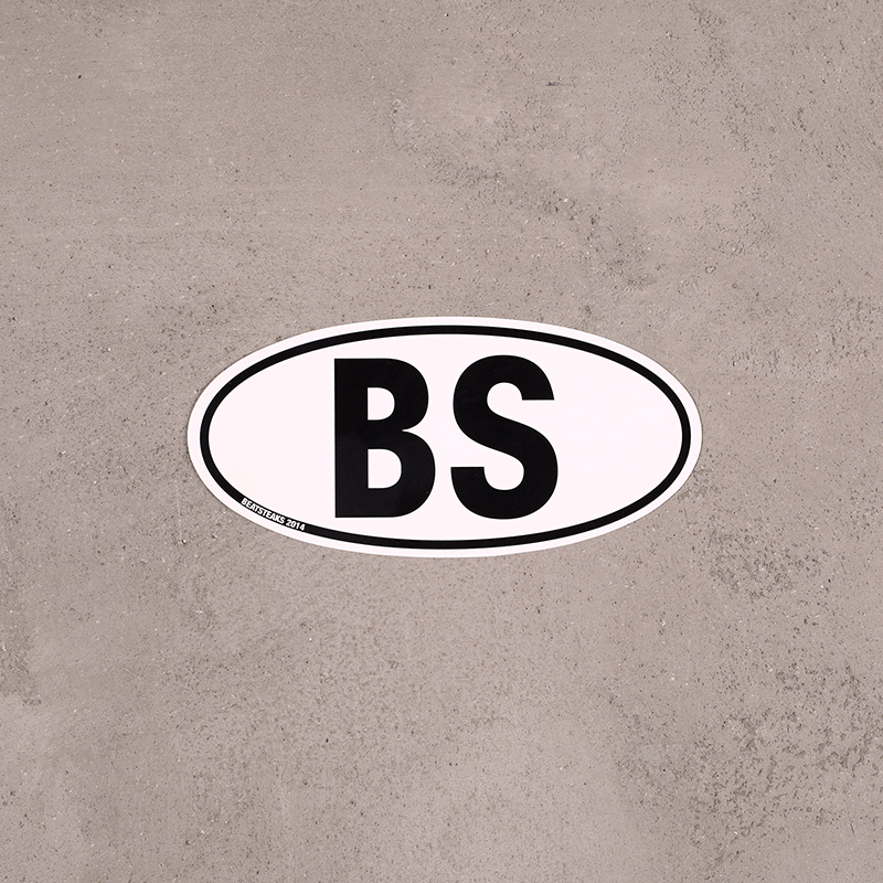 Beatsteaks BS Autoaufkleber Aufkleber weiß