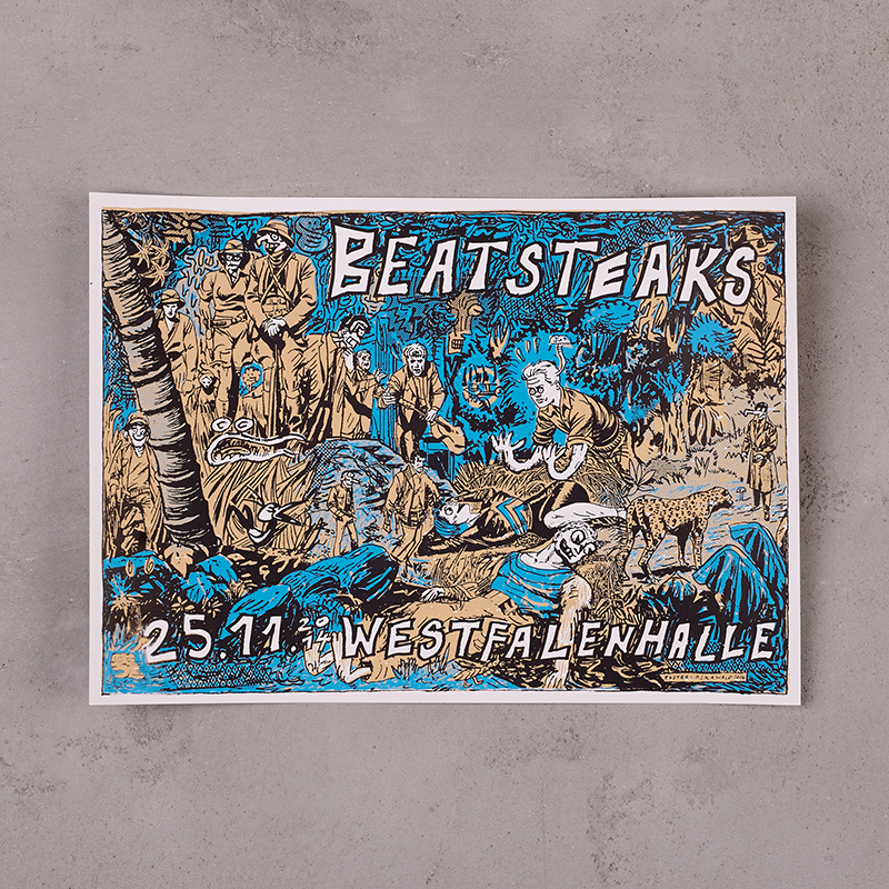 Beatsteaks Dortmund 25.11.2014 Poster gerollt blau