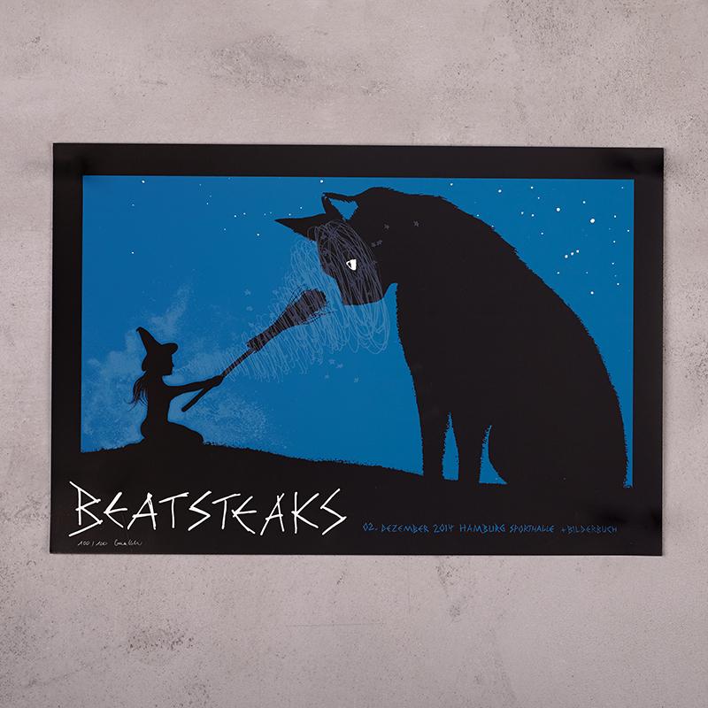 Beatsteaks Hamburg 2.12.2014 Poster gerollt schwarz/blau