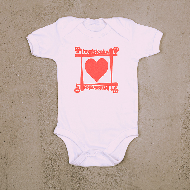 Beatsteaks heart Rompers white