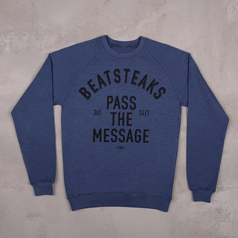 Beatsteaks Pass the Message Sweater Blau