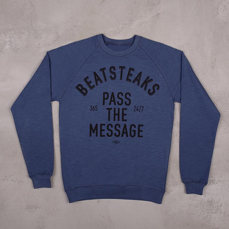 Beatsteaks Pass the Message Sweater blue