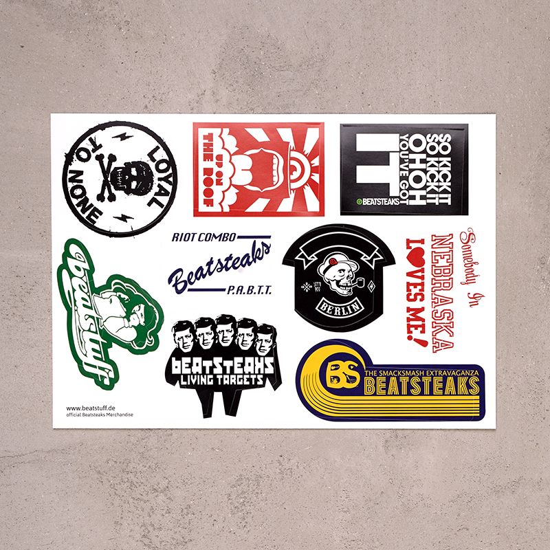 Beatsteaks Stickercollection Sticker-Set