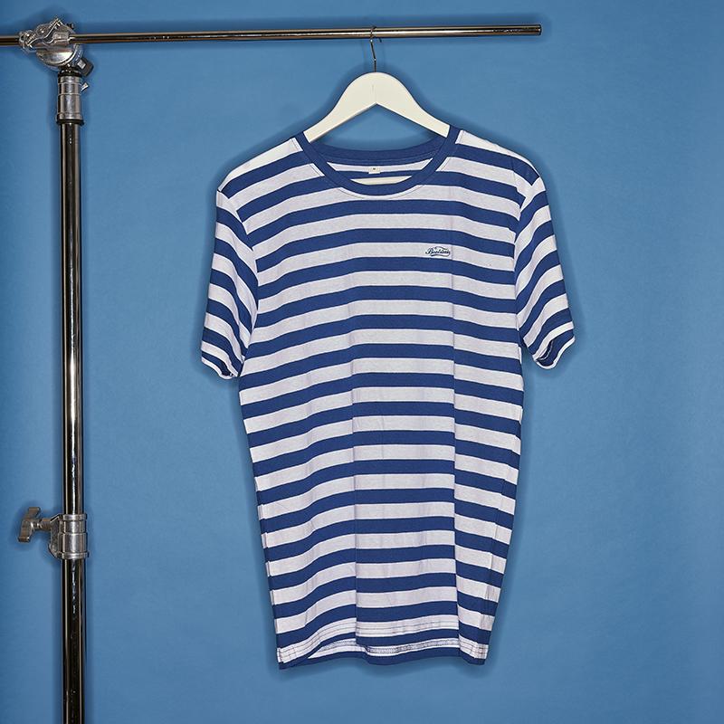 Beatsteaks Streifen T-Shirt white/blue