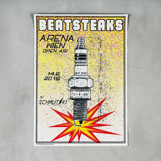 Beatsteaks Wien 14.08.2015 Poster gerollt