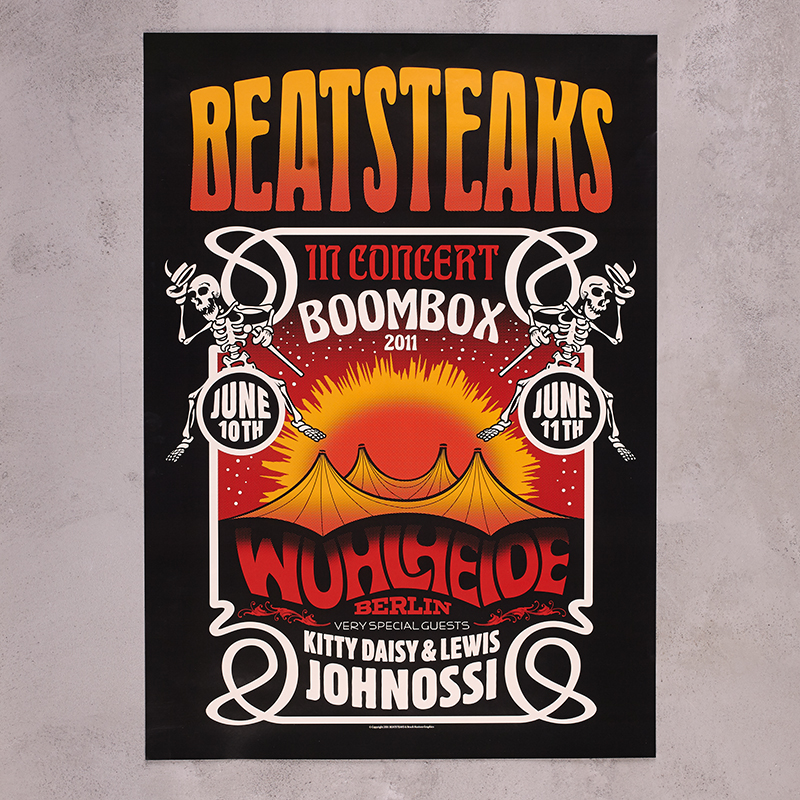 Beatsteaks Wuhlheide 2011 - A1 Poster